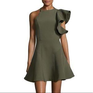 C/MEO COLLECTIVE All I Need A-Line Dress khaki M